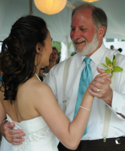 Father-daughter dance at Beth's wedding, May 2011, at Seagrove Beach