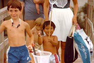 Jon and Jason's first beach trip 1984