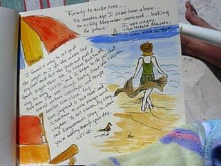 On one trip (I think this was actually at Gulf Shores) I kept a watercolor journal....