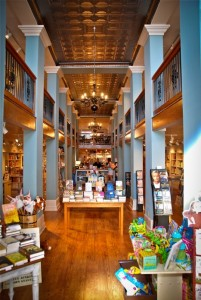 The beautiful interior at Turnrow Books in Greenwood, Mississippi