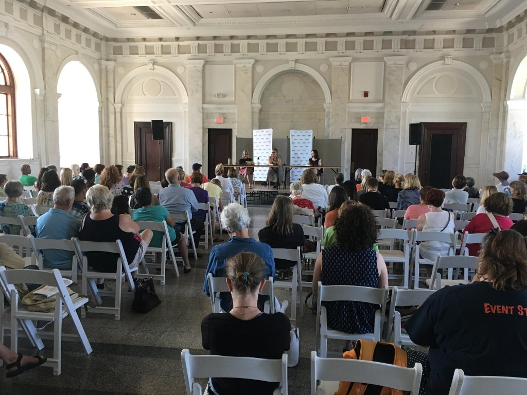 Before the room filled for my panel for A SECOND BLOOMING at the Decatur Book Festival on Sunday.