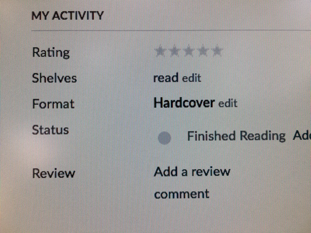 Goodreads review button