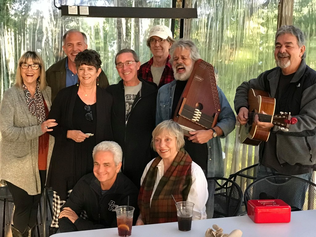 Authors and musicians at the Capitol Oyster Bar in Montgomery, Alabama