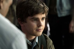Freddie Highmore plays Dr. Shaun Murphy, an autistic surgical resident in The Good Doctor.