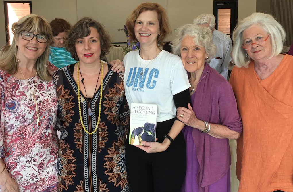 With Memphis contributors to A SECOND BLOOMING at our launch at the Memphis Botanic Gardens: me, Jen Bradner, Ellen Morris Prewitt, Sally Thomason, and Susan Henley