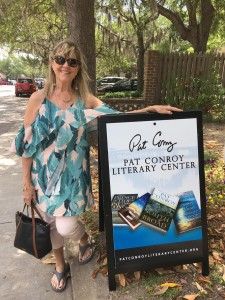 At the Pat Conroy Literary Center in Beaufort, South Carolina, just before a reading of A SECOND BLOOMING with Cassandra King, NancyKay Wessman, and Susan Marquez at Nevermore Books