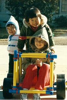 Our kids with Omagle car 1985