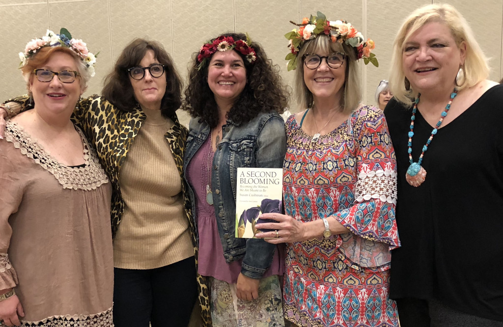 Panel for A SECOND BLOOMING: Susan Marquez, River Jordan, Julie Cantrell, me, and NancyKay Wessman