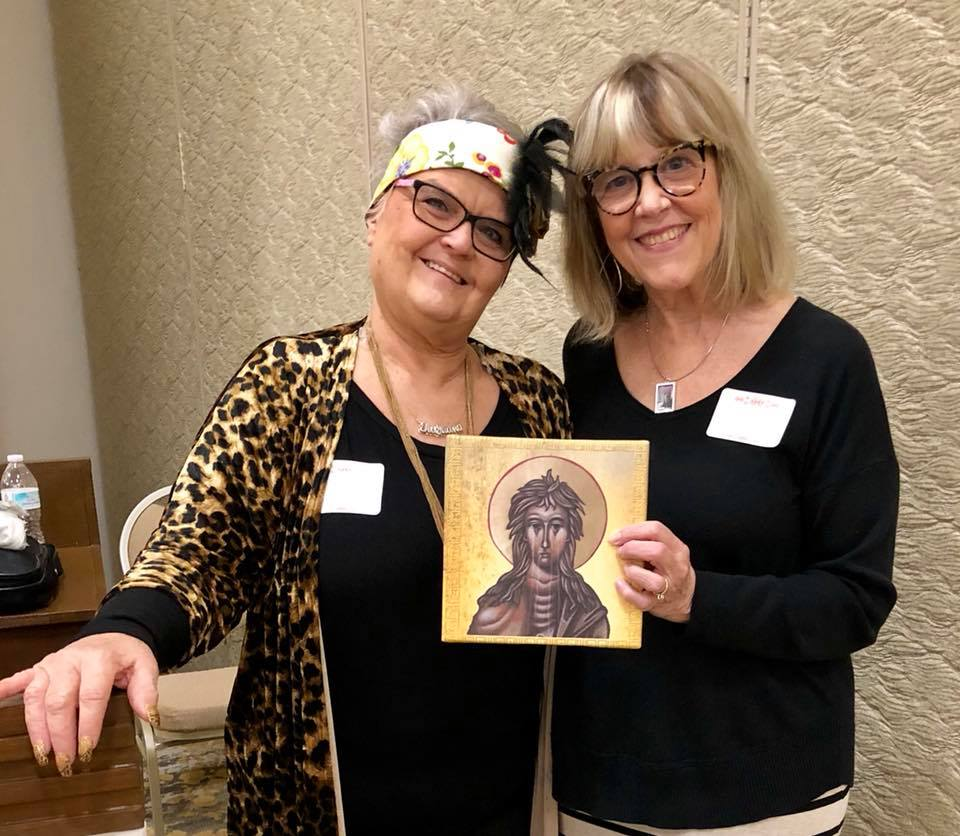 "Thanks to Tiajuana Anderson Neel who bought the ""weeping"" icon of Saint Mary of Egypt that I contributed."