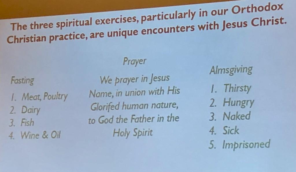 3 spiritual exercises