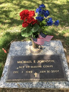 Mike's grave