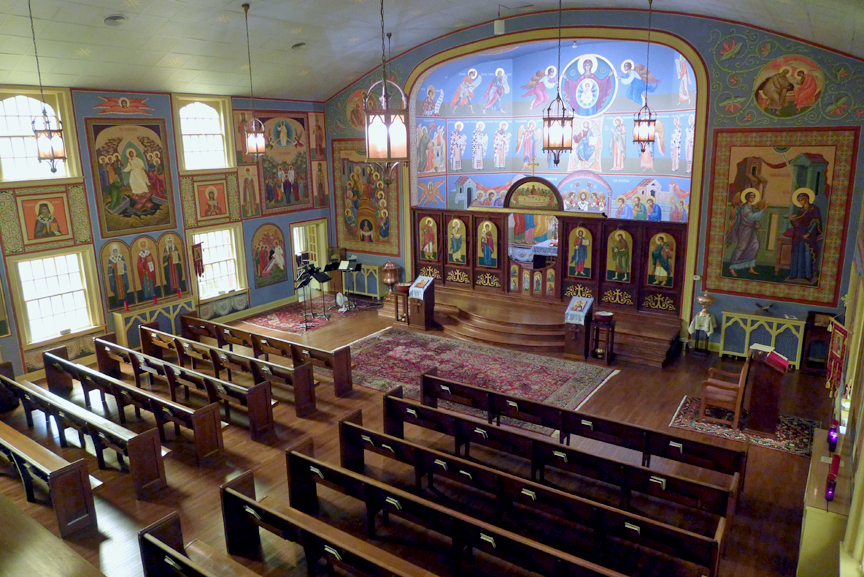 Nave of St. John Orthodox Church in Memphis, Tennessee, which is mentioned in the excerpt