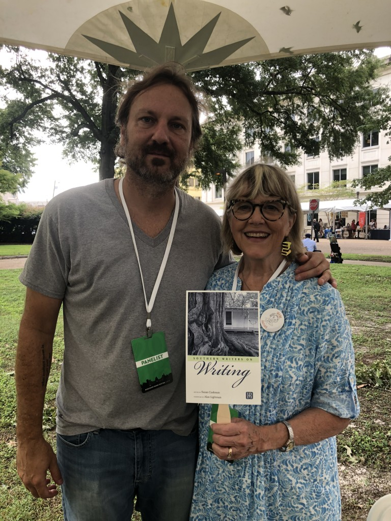 Michael Farris Smith also has an essay in SOUTHERN WRITERS ON WRITING, but he was scheduled for a panel for his novel THE FIGHTER at the festival. We hung out in the author signing tent.
