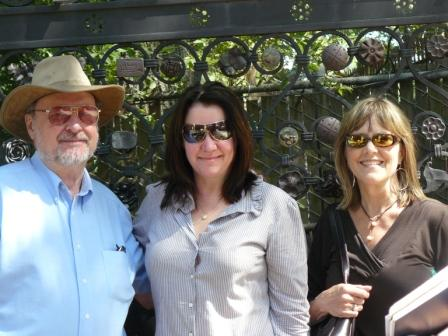 Herman King, Patti Trippeer and me by the gate to the Ornamental Metal Museum on the Mississippi River in Memphis, September 2008. Photo by Doug McLain