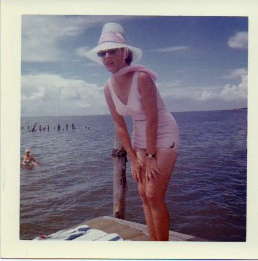 Mom circle 1963. She was 35 years old and thought she was fat.
